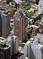 aerial photograph residential high rises Manhattan, New York City