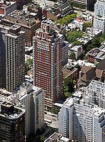 aerial photograph residential high rises Manhattan, New York City