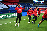 13th April 2021; Parc de Princes, Paris, France; UEFA Champions League football, quarter-final; Paris Saint Germain versus Bayern Munich;  Neymar Jr (PSG) during warm up