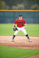 Daniel Baruch (16) of The Wheeler High School in Cranston, Rhode Island during the Under Armour All-American Pre-Season Tournament presented by Baseball Factory on January 14, 2017 at Sloan Park in Mesa, Arizona.  (Mike Janes/MJP/Four Seam Images)