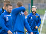 St Johnstone Training….09.08.19<br />Richard Foster all smiles at McDiarmid Park this morning during a very wet and windy training session.<br />Picture by Graeme Hart.<br />Copyright Perthshire Picture Agency<br />Tel: 01738 623350  Mobile: 07990 594431