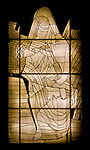 """This """"glass work"""" was shown as a work of art in the Vatican; I did not capture artist's name.  A beautiful work."""