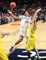CHARLOTTESVILLE, VA- NOVEMBER 29: Malcolm Brogdon #22 of the Virginia Cavaliers looks for the ball during the game on November 29, 2011 at the John Paul Jones Arena in Charlottesville, Virginia. Virginia defeated Michigan 70-58. (Photo by Andrew Shurtleff/Getty Images) *** Local Caption *** Malcolm Brogdon