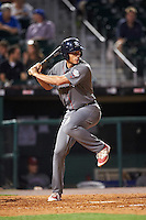 Lehigh Valley IronPigs center fielder Cam Perkins (27) at bat during a game against the Buffalo Bisons on August 29, 2016 at Coca-Cola Field in Buffalo, New York.  Buffalo defeated Lehigh Valley 3-2.  (Mike Janes/Four Seam Images)
