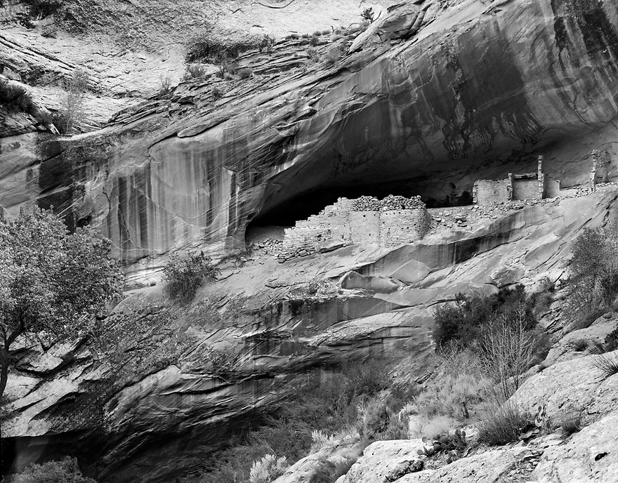 Along the southeastern portion of Utah, is an eighty-mile long monocline called Combs Ridge.  Evidence of the ancient Puebloan Culture that once inhabited this area can be found tucked into several small canyons eroded over the eons.  The Monarch Cave Ruins is a fine example of the fascinating archeological sites that can be found in this area.