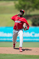 Lakewood BlueClaws starting pitcher Franklyn Kilome (36) in action against the Kannapolis Intimidators at Kannapolis Intimidators Stadium on May 8, 2016 in Kannapolis, North Carolina.  The Intimidators defeated the BlueClaws 3-2.  (Brian Westerholt/Four Seam Images)