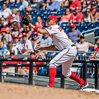 9 July 2017: Washington Nationals first baseman Ryan Zimmerman in action against the Atlanta Braves at Nationals Park in Washington, DC. The Nationals defeated the Atlanta Braves to split their 4-game series. Mandatory Credit: Ed Wolfstein Photo *** RAW (NEF) Image File Available ***