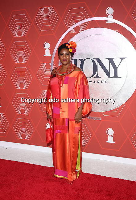 Lynn Nottage attends the 74th Tony Awards-Broadway's Back! arrivals at the Winter Garden Theatre in New York, NY, on September 26, 2021. (Photo by Udo Salters/Sipa USA)