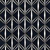 Eze, a  waterjet cut stone mosaic, shown in polished Nero Marquina and brushed Aluminum,is a design by Caroline Beaupere for New Ravenna.