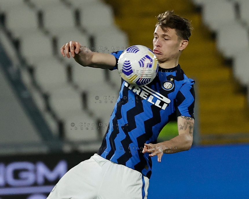 Nicolo Barella of Inter   during the  italian serie a soccer match,Spezia Inter Milan at  the STadio Picco in La Spezia Italy ,
