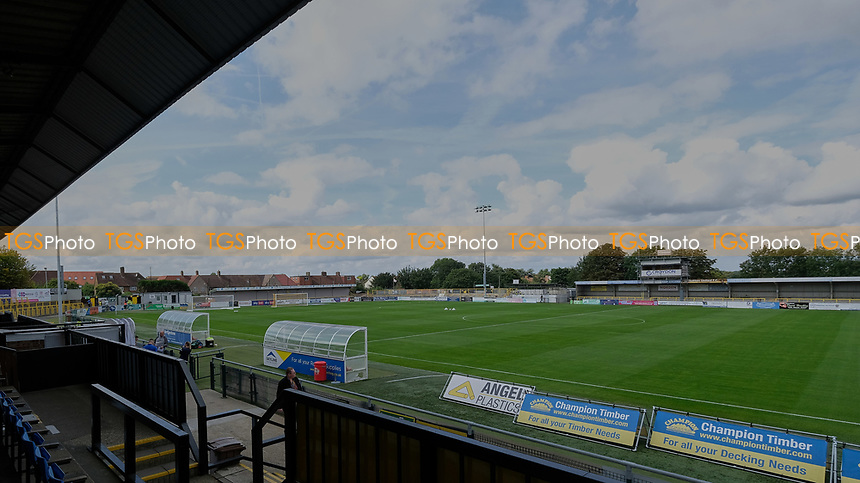 General view of the ground ahead of Sutton United vs Stevenage, Sky Bet EFL League 2 Football at the VBS Community Stadium on 11th September 2021