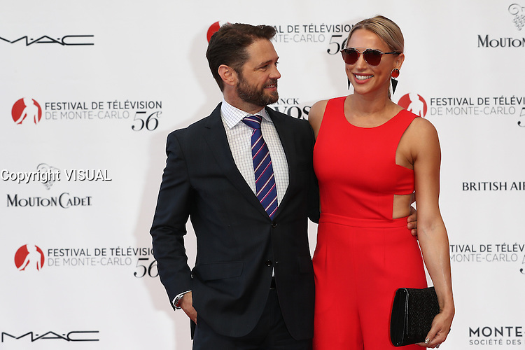 56th Monte-Carlo Television Festival opening red carpet. Jason Priestley and wife.