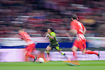 Gelson Martins of Sporting CP (C) in action during the UEFA Europa League quarter final leg one match between Atletico Madrid and Sporting CP at Wanda Metropolitano on April 5, 2018 in Madrid, Spain. Photo by Diego Souto / Power Sport Images