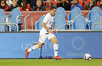 TORONTO, ON - OCTOBER 15: Daniel Lovitz #5 of the United States moves with the ball during a game between Canada and USMNT at BMO Field on October 15, 2019 in Toronto, Canada.