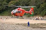 310811 Wales Air Ambulance beach landing