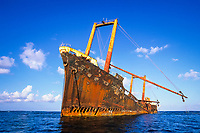 wreck of a Korean freighter called Polyxeni, Silver Bank, Turks & Caicos, Caribbean Sea, Atlantic Ocean