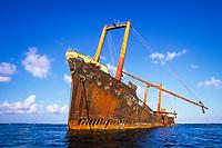 wreck of a Korean freighter called Polyxeni, Silver Bank, Turks & Caicos, Caribbean Sea, Atlantic Ocean