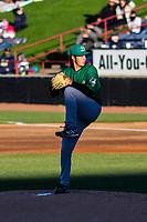 Beloit Snappers pitcher Zach McCambley (39) delivers a pitch during a game against the Wisconsin Timber Rattlers on May 4, 2021 at Neuroscience Group Field at Fox Cities Stadium in Grand Chute, Wisconsin.  (Brad Krause/Four Seam Images)