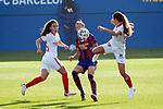 Liga IBERDROLA 2020-2021. Jornada: 12<br /> FC Barcelona vs Sevilla: 6-0.<br /> Jennifer Hermoso vs Inma Gabarro.
