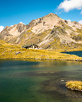 Lake Angelus and Angelus Hut, Nelson Lakes National Park, South Island, New Zealand, NZ