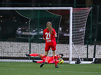 Lisa Petry (21 Standard) has an attempt on goal during a female soccer game between Oud Heverlee Leuven and Standard Femina De Liege on the 10th matchday of the 2020 - 2021 season of Belgian Womens Super League , sunday 20 th of December 2020  in Heverlee , Belgium . PHOTO SPORTPIX.BE | SPP | SEVIL OKTEM