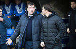 St Johnstone v Partick Thistle…27.01.18…  McDiarmid Park…  SPFL<br />Tommy Wright and Alan Archibald before kick off<br />Picture by Graeme Hart. <br />Copyright Perthshire Picture Agency<br />Tel: 01738 623350  Mobile: 07990 594431
