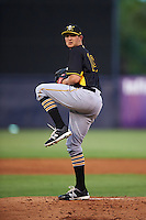 Bradenton Marauders starting pitcher Austin Coley (19) delivers a pitch during a game against the Tampa Yankees on April 11, 2016 at George M. Steinbrenner Field in Tampa, Florida.  Tampa defeated Bradenton 5-2.  (Mike Janes/Four Seam Images)