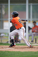 Baltimore Orioles Ademar Rifaela (85) during a minor league Spring Training intrasquad game on April 2, 2016 at Buck O'Neil Complex in Sarasota, Florida.  (Mike Janes/Four Seam Images)