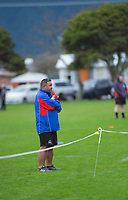 HKRFU community rugby manager Aleni Feagaiga watches the 2020 Hurricanes Under-15 Girls tournament at Playford Park in Levin, New Zealand on Tuesday, 1 September 2020. Photo: Dave Lintott / lintottphoto.co.nz