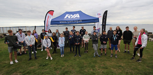 All the prizewinners from the 2021 RYA NI Youth Sailing Championships at Carrickfergus
