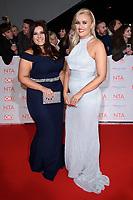 Ellie and Izzi Warner<br /> arriving for the National Television Awards 2018 at the O2 Arena, Greenwich, London<br /> <br /> <br /> ©Ash Knotek  D3371  23/01/2018