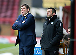 Motherwell v St Johnstone…18.03.17     SPFL    Fir Park<br />Tommy Wright and Callum Davidson<br />Picture by Graeme Hart.<br />Copyright Perthshire Picture Agency<br />Tel: 01738 623350  Mobile: 07990 594431