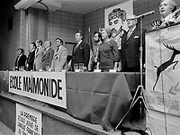 ECOLE MAIMONIDE ; premiere ecole juive francophone au canada, inaugure ses propres locaux, circa Novembre 1972<br /> <br /> PHOTO : Agence Quebec Presse -  Alain Renaud