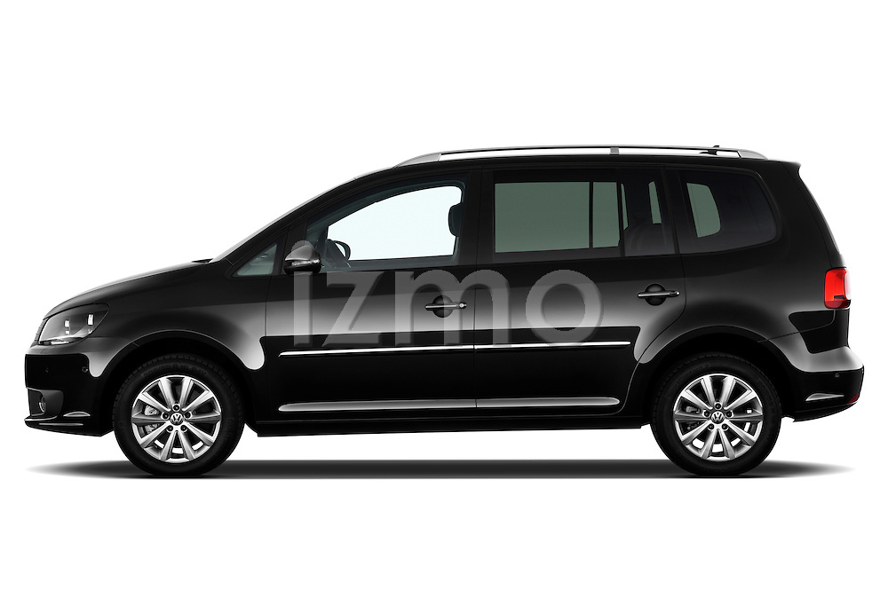 Driver side profile view of a 2010 Volkswagen Touran Highline 5 Door Mini MPV.