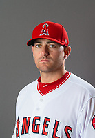 Feb 19, 2019; Tempe, AZ, USA; Los Angeles Angels pitcher Daniel Hudson poses for a portrait during media day at Tempe Diablo Stadium. Mandatory Credit: Mark J. Rebilas-USA TODAY Sports