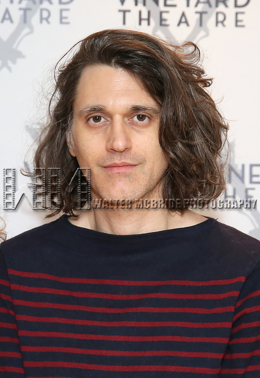 """Playwright Lucas Hnath during the cast photo call for the Vineyard Theatre Production of Dana H."""" at the Vineyard Theatre Rehearsal Studios on February 4, 2020 in New York City."""