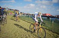 U23 World CX Champion Wout Van Aert (BEL) in the pits<br /> <br /> 2014 Noordzeecross