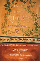 Europe/France/Corse/2B/Haute-Corse/Cap Corse/Nebbio/Saint-Florent: Détail boutique vigneron - Vin de Patrimonio