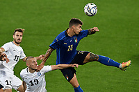 Pavel Marin of Estonia and Giovanni Di Lorenzo of Italy compete for the ball during the friendly football match between Italy and Estonia at Artemio Franchi Stadium in Firenze (Italy), November, 11th 2020. Photo Andrea Staccioli/ Insidefoto