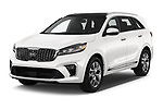2019 KIA Sorento SX Limited 5 Door SUV angular front stock photos of front three quarter view