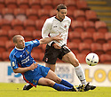 20040509    Copyright Pic: James Stewart.File Name : jspa17_clyde_v_ict..James Stewart Photo Agency 19 Carronlea Drive, Falkirk. FK2 8DN      Vat Reg No. 607 6932 25.Office     : +44 (0)1324 570906     .Mobile  : +44 (0)7721 416997.Fax         :  +44 (0)1324 570906.E-mail  :  jim@jspa.co.uk.If you require further information then contact Jim Stewart on any of the numbers above.........