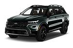 2021 KIA Sorento SX 5 Door SUV Angular Front automotive stock photos of front three quarter view