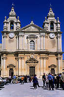 Mdina, Malta. Cathedral of Saint Paul, Built 1702.  The cathedral is said to sit on the site of the house of the head man of Mdina, who was visited by St. Paul.