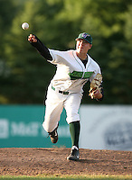 Corey Madden of the Jamestown Jammers, Class-A affiliate of the Florida Marlins, during New York-Penn League baseball action.  Photo by Mike Janes/Four Seam Images