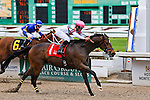 NEW ORLEANS, LA - MARCH 26:  Sunbean #1 ridden by Richard E. Eramia wins the Star Guitar Stakes at Fairgrounds Race Course on March 26, 2016 in New Orleans, Louisiana. (Photo by Steve Dalmado/Eclipse Sportswire/Getty Images)