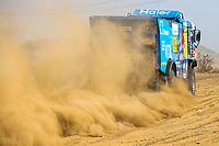 31st December 2020, Jeddah, Saudi Arabian. The vehicle and river shakedown for the 2021 Dakar Rally in Jeddah;   509 Mardeev Airat rus, Svistunov Dmitriy rus, Galiautdinov Akhmet rus, Kamaz, Kamaz - Master, Camion, Truck, action during the shakedown of the Dakar 2021 in Jeddah