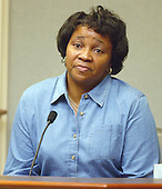 Aurolyn Marie Williams of Baton Rouge, Louisiana, Muhammad's sister, testifies during the penalty phase of the trial of convicted sniper John Allen Muhammad courtroom 10 at the Virginia Beach Circuit Court in Virginia Beach, Virginia on November 20, 2003.<br /> Credit: Lawrence Jackson - Pool via CNP