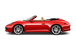Car Driver side profile view of a 2017 Porsche 911 Carrera 2 Door Convertible Side View