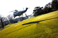 United States President Donald J. Trump departs the White House aboard Marine One in Washington, D.C., U.S., on Tuesday, Jan. 12, 2021. The President is heading to Alamo, Texas today to visit the border wall between the United States and Mexico. This is the Presidents first appearance following the insurrection at the U.S. Capitol by his followers last week. <br /> CAP/MPI/RS<br /> ©RS/MPI/Capital Pictures