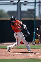 San Francisco Giants Orange catcher Trevor Brown (16) at bat during an Extended Spring Training game against the Seattle Mariners at the San Francisco Giants Training Complex on May 28, 2018 in Scottsdale, Arizona. (Zachary Lucy/Four Seam Images)